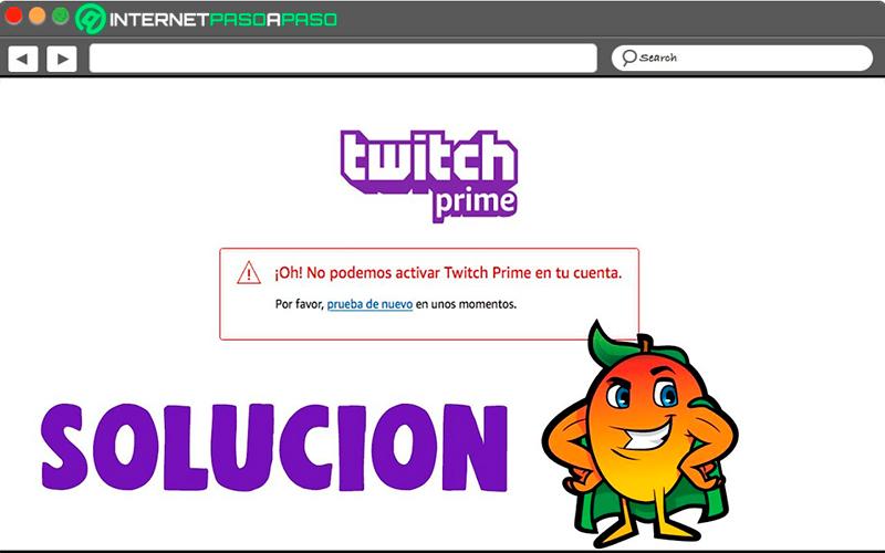 Aprenda paso a paso para corregir el error de activación de Twitch Prime desde el principio