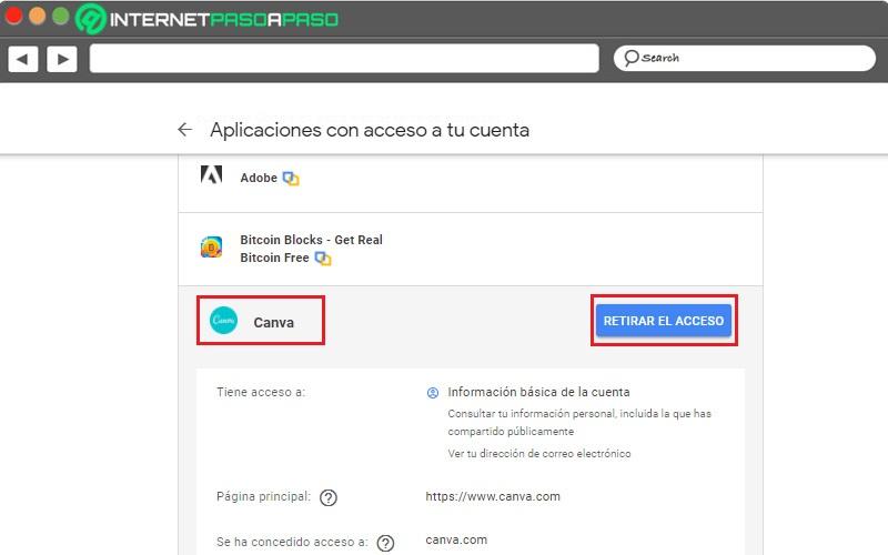 deshabilitar la sincronización de gmail