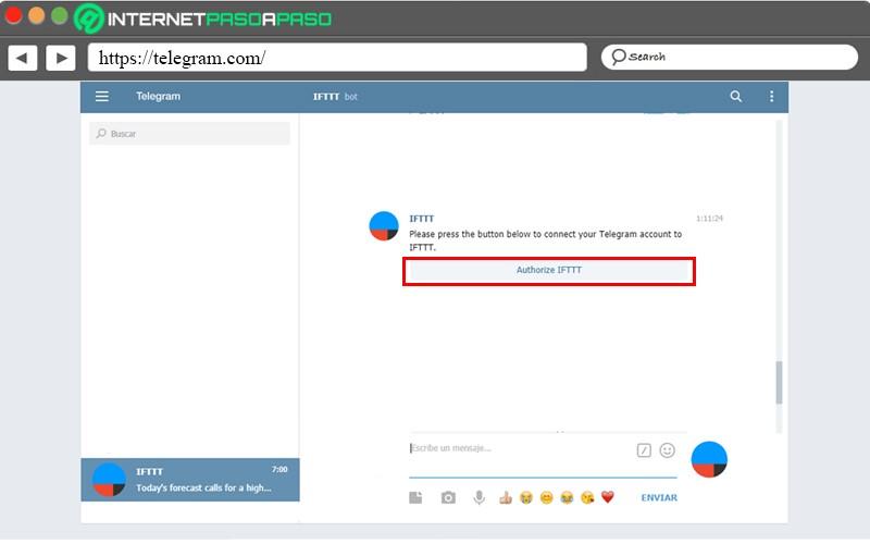 Arranque de Bot IFTTT