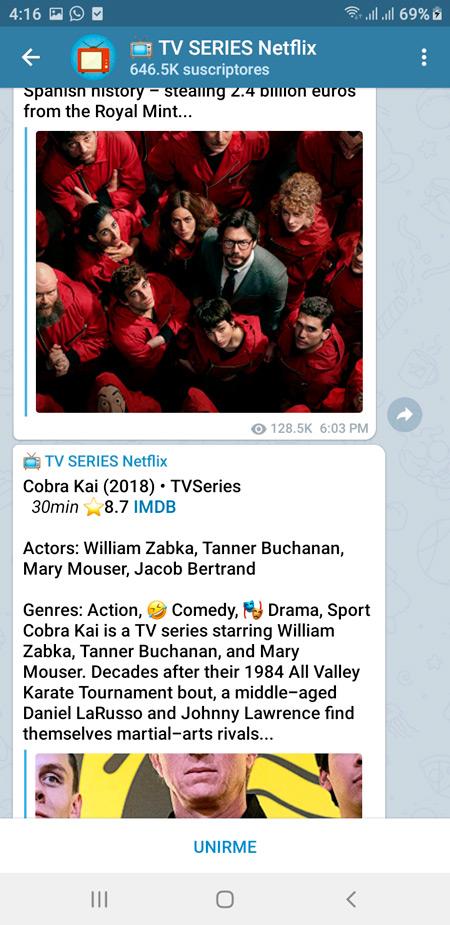 Serie de TV de Netflix