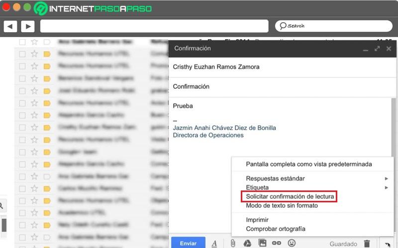 Leer certificado de Gmail