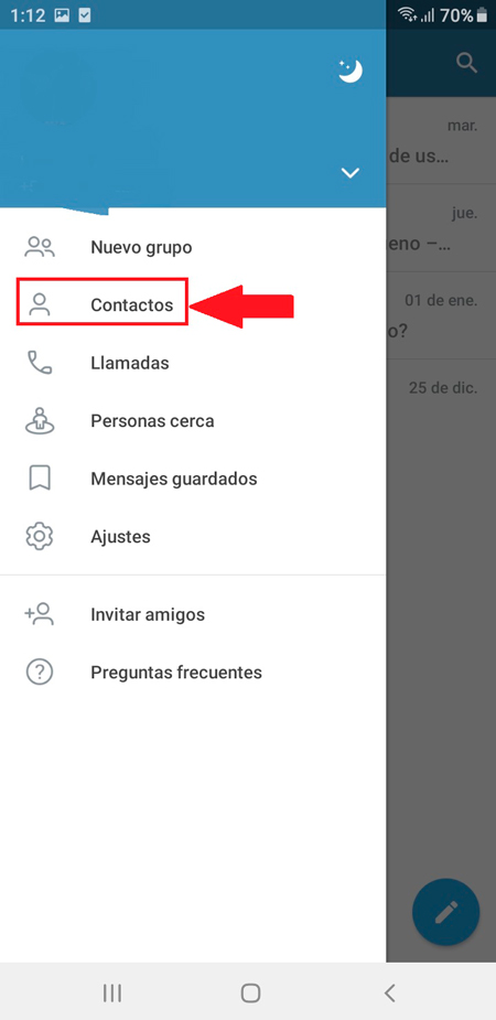 En dispositivos móviles Android e iOS