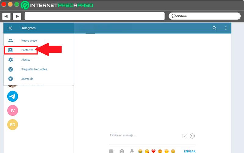 En la Telegram Web